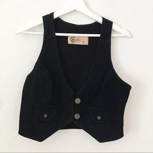 GAP 1969 Jeans Limited Edition Black Vest Sz M